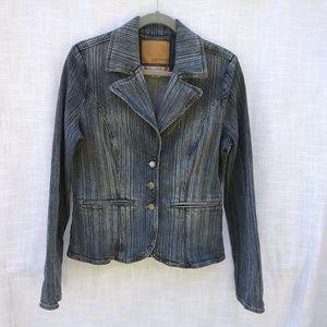 Guess Stretch Jean Jacket Size L